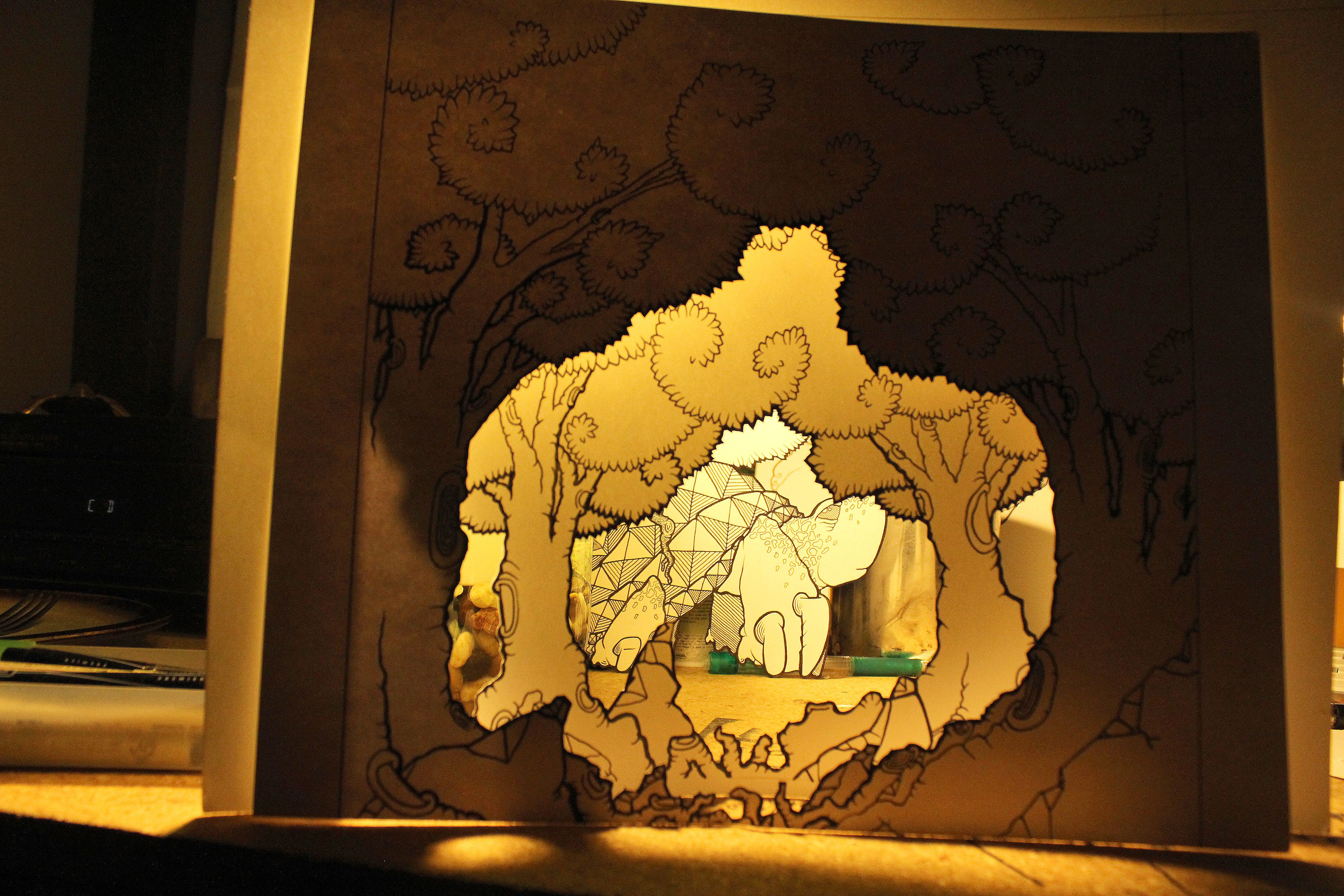 4 Layer Project In Progress Paper Lamp Art Projects Projects