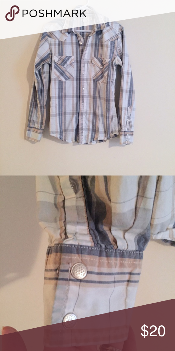 Men's American Eagle plaid button down size small (With