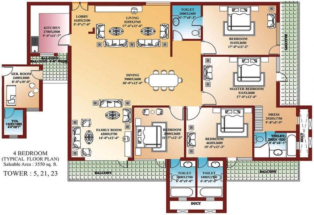 4 Bedroom House Floor Plans Google Search Hauspläne Haus Grundriss Moderne Home Pläne