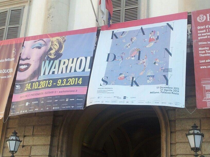 Warhol e Kandinsky a Milano.