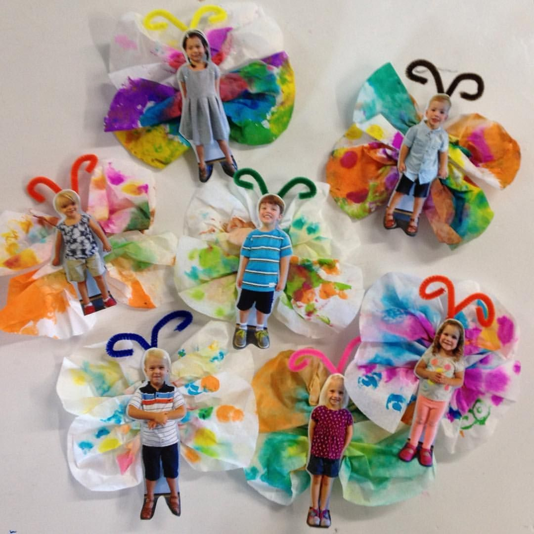 One of my very favorite projects that gets sent home. The kids decorate the coffee filters with @doadotart stampers and then we spray them… #decoratehome