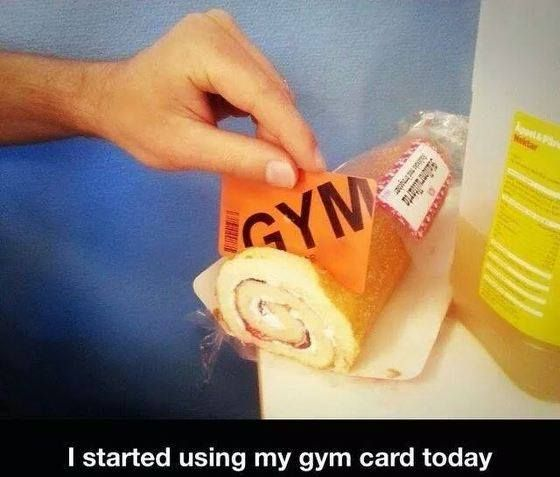 Started using my gym card