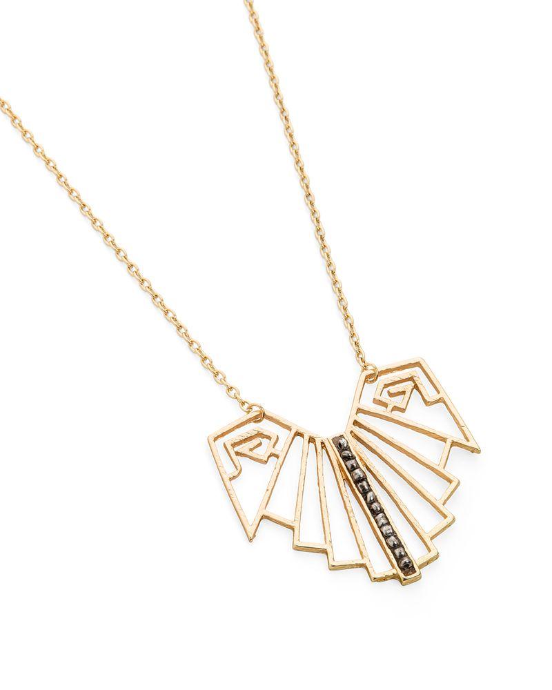 Native Butterfly Necklace // geometric #wearabledesign #designinspiration