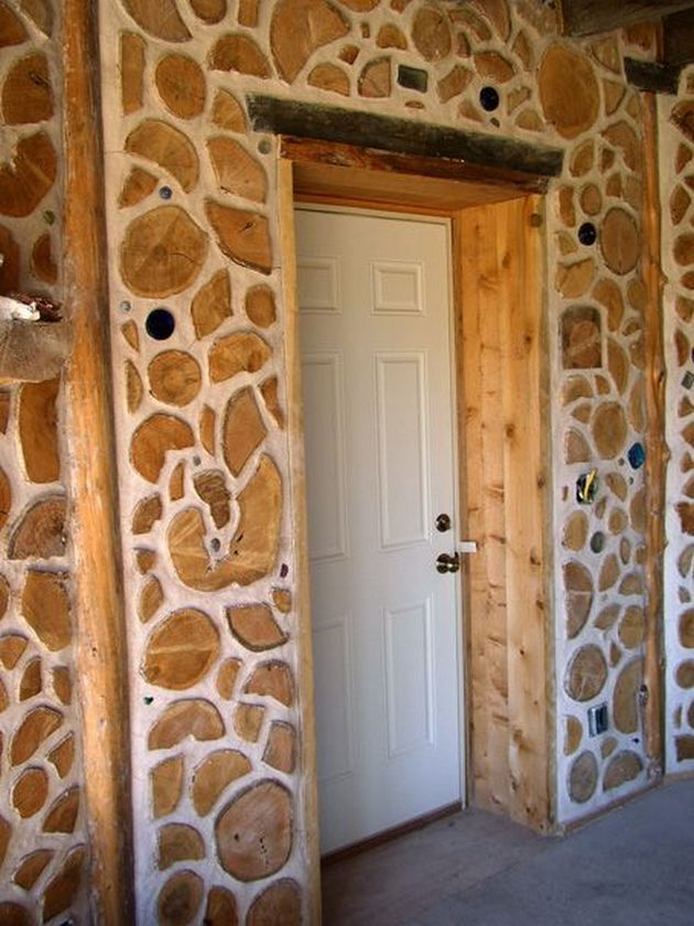 Cordwood Homes Construction.
