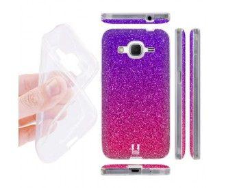 Coque Samsung Galaxy Core Prime design strass paillette rose ...