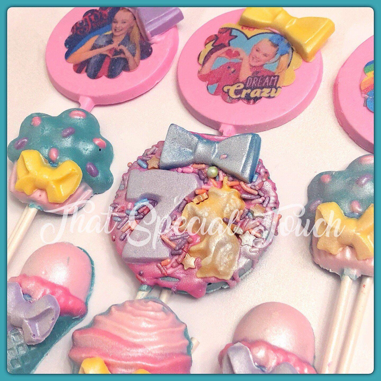 Jojo Siwa inspired Chocolate Lollipops Party Favors (Jojo ...
