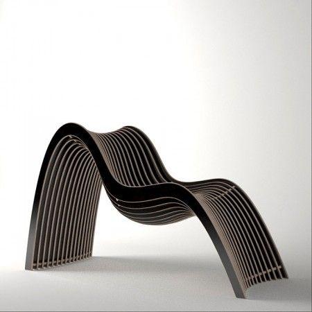 Chair wave Untothislast flesh Nurbs Wooden Chair | Polo's Furniture
