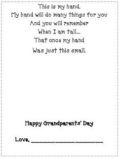photograph about Handprint Poem Printable referred to as Pin upon