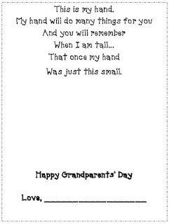 photograph regarding Handprint Poem Printable called Pin upon