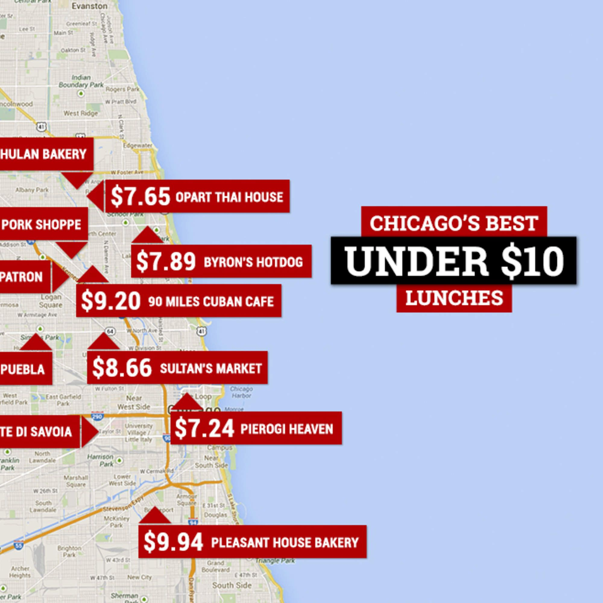 The Best Cheap Lunches In Chicago Visit Chicago My Friend And - Chicago map miracle mile