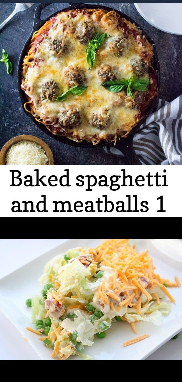 Baked spaghetti and meatballs 1 Baked Spaghetti and Meatballs recipe 7 Layer Green Salad  Sugar n Spice Gals This Instant Pot pepper steak is an easy dinner recipe that j...