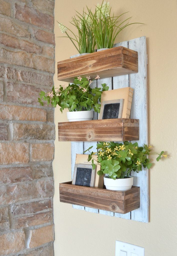 Wooden Wall Planter Diy