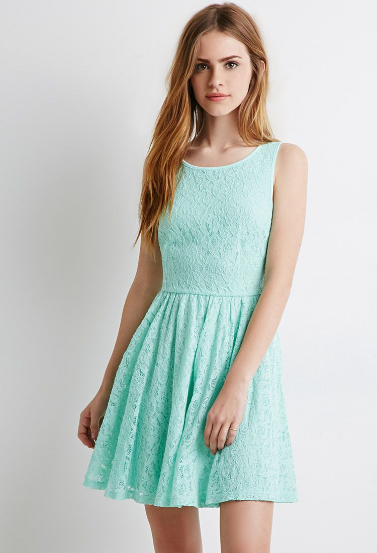 Lace Fit & Flare Dress | Forever 21 - 2000078503 | Day Dresses ...