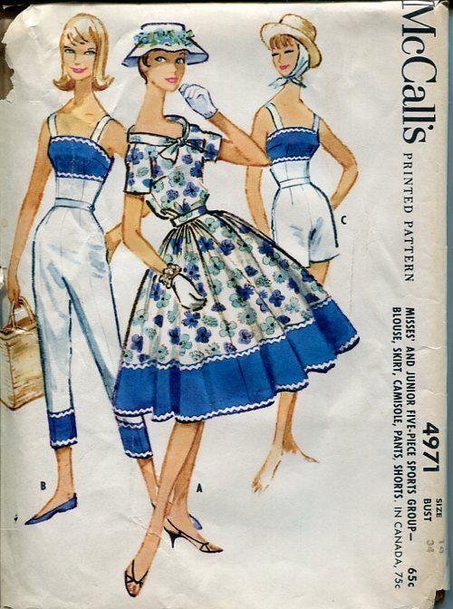 McCall\'s 4971 A | Fifties Fashionista\'s (1950\'s Fashion) | Pinterest ...