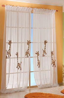 Dise os de cortinas para ni os habitaci n caleb pinterest - Cortinas infantiles originales ...