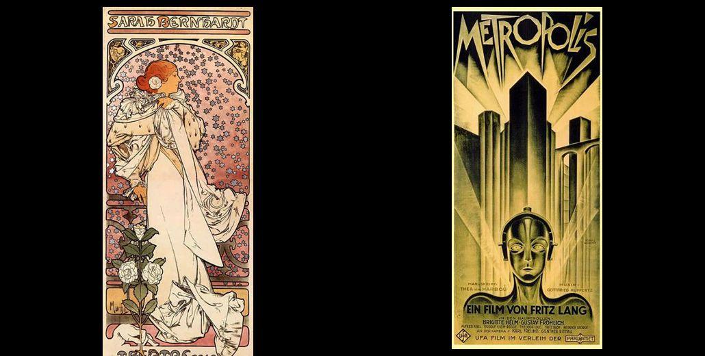 Art Nouveau vs. Art Deco | Design | Pinterest
