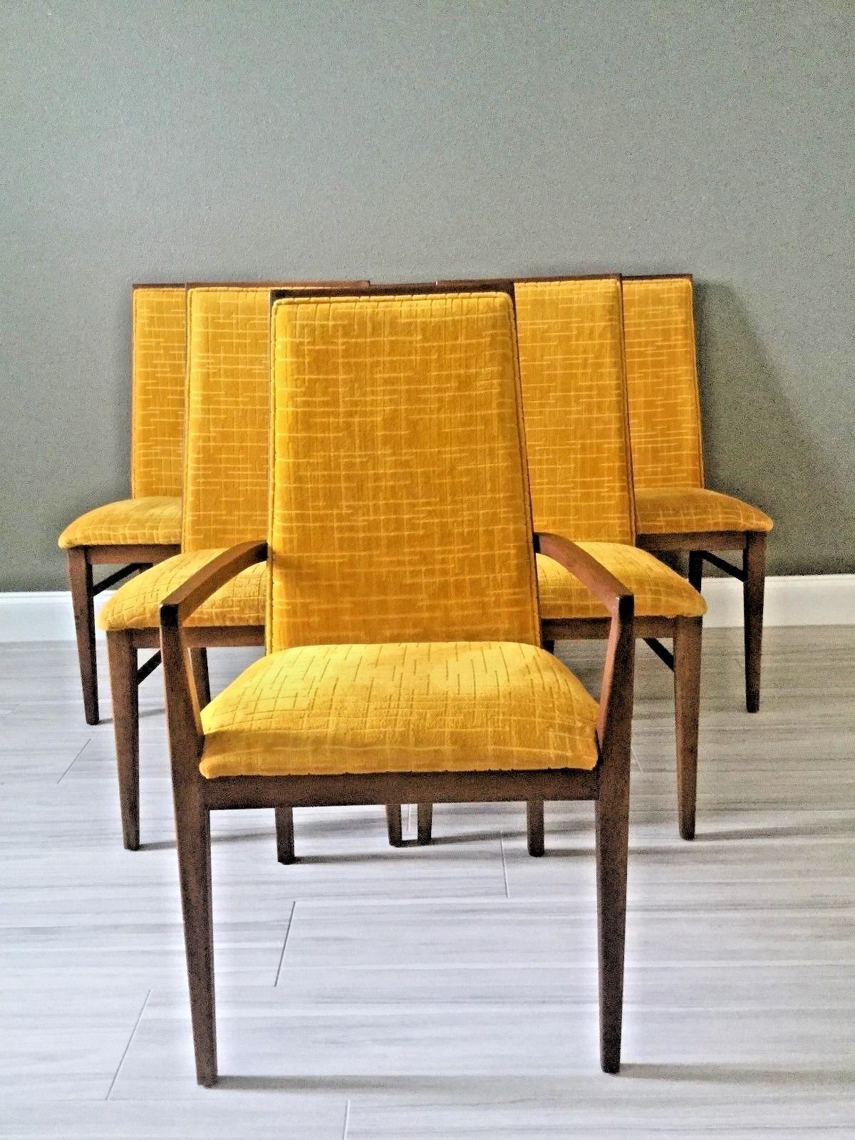 Incredible Mid Century Modern Walnut Dillingham Dining Chairs Dining Ibusinesslaw Wood Chair Design Ideas Ibusinesslaworg