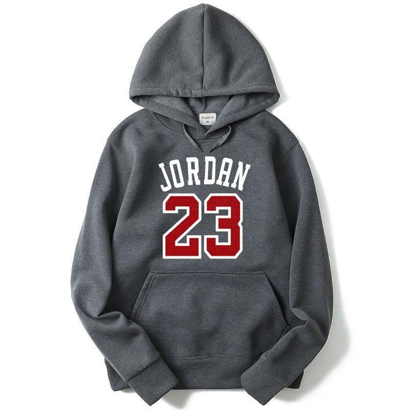 f77c53bd5d7556 Fleece Jordan Hoodies Men 23 Printed Mens Hooded Sweatshirts Sportswear  Black Pink Streetwear Hip Hop Pullover Hoody Tracksuit