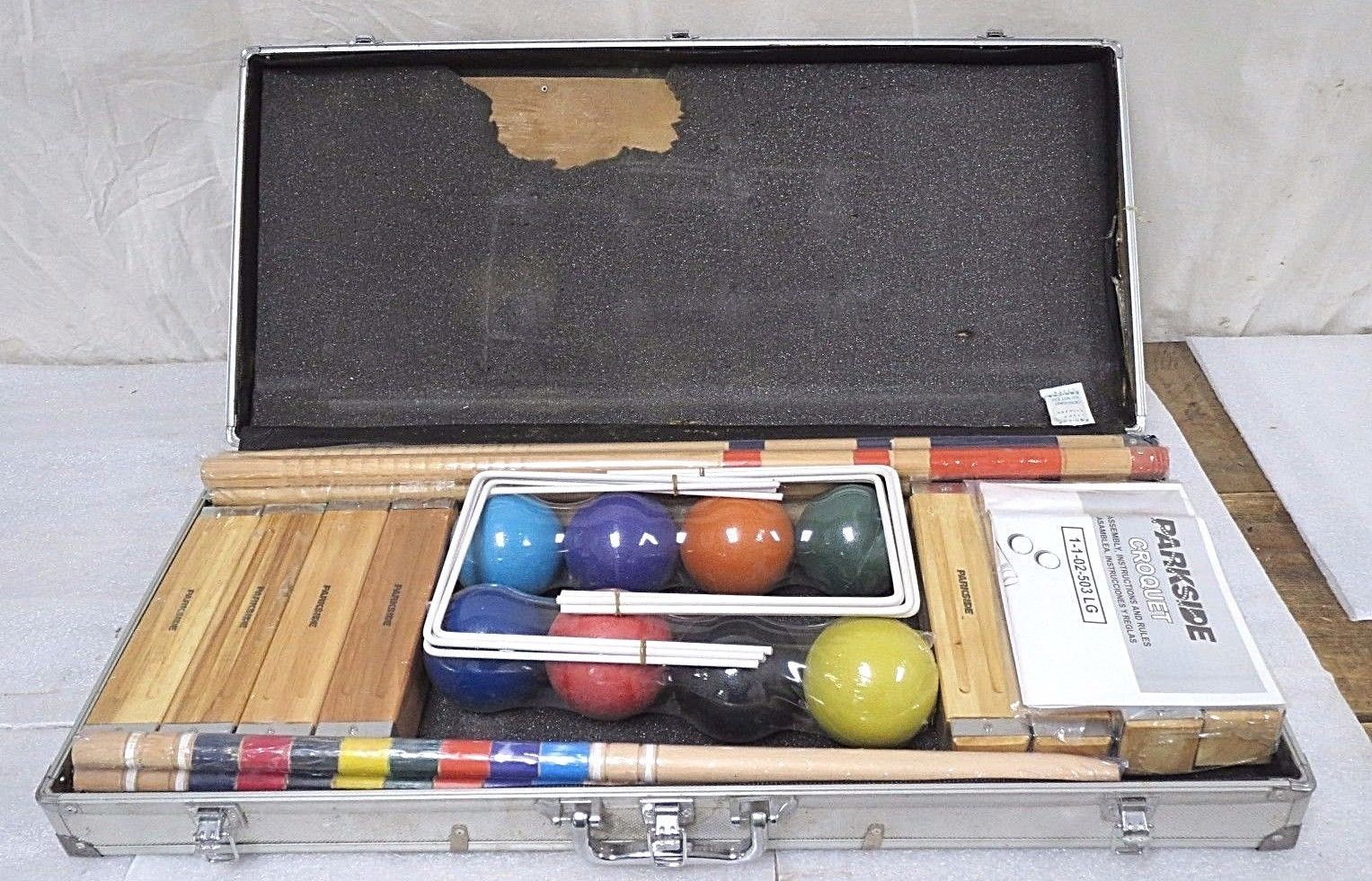 Parkside 8 Player Croquet Set With Carry Case Deals Sporting