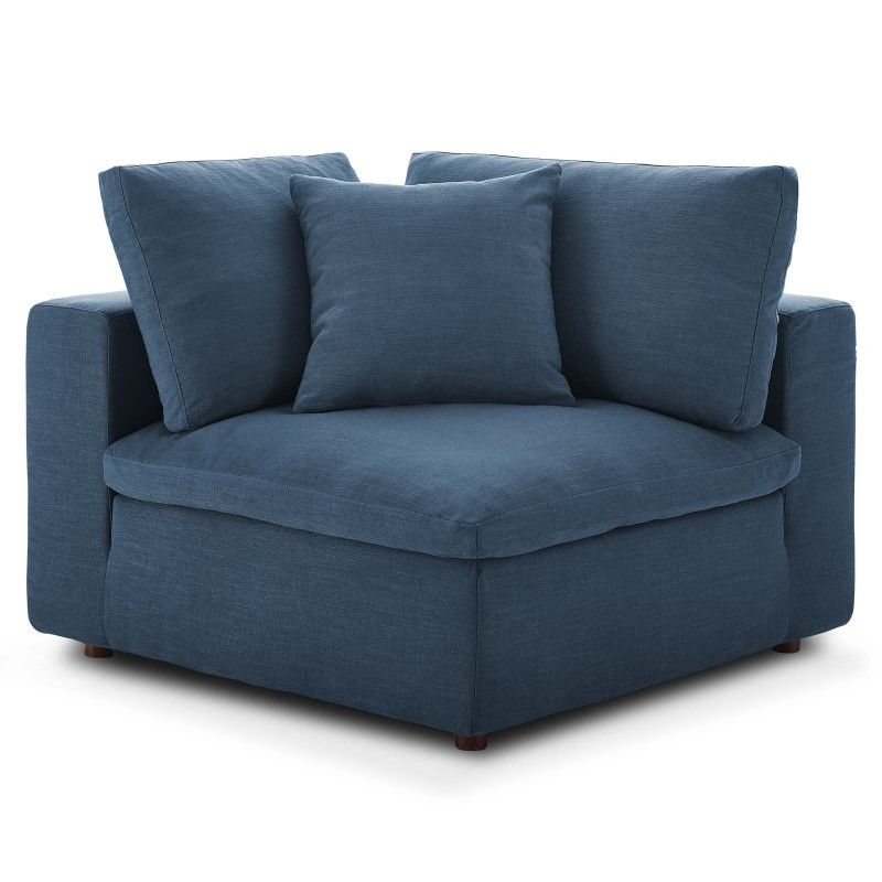 Best Commix Down Filled Overstuffed Corner Chair Azure 400 x 300