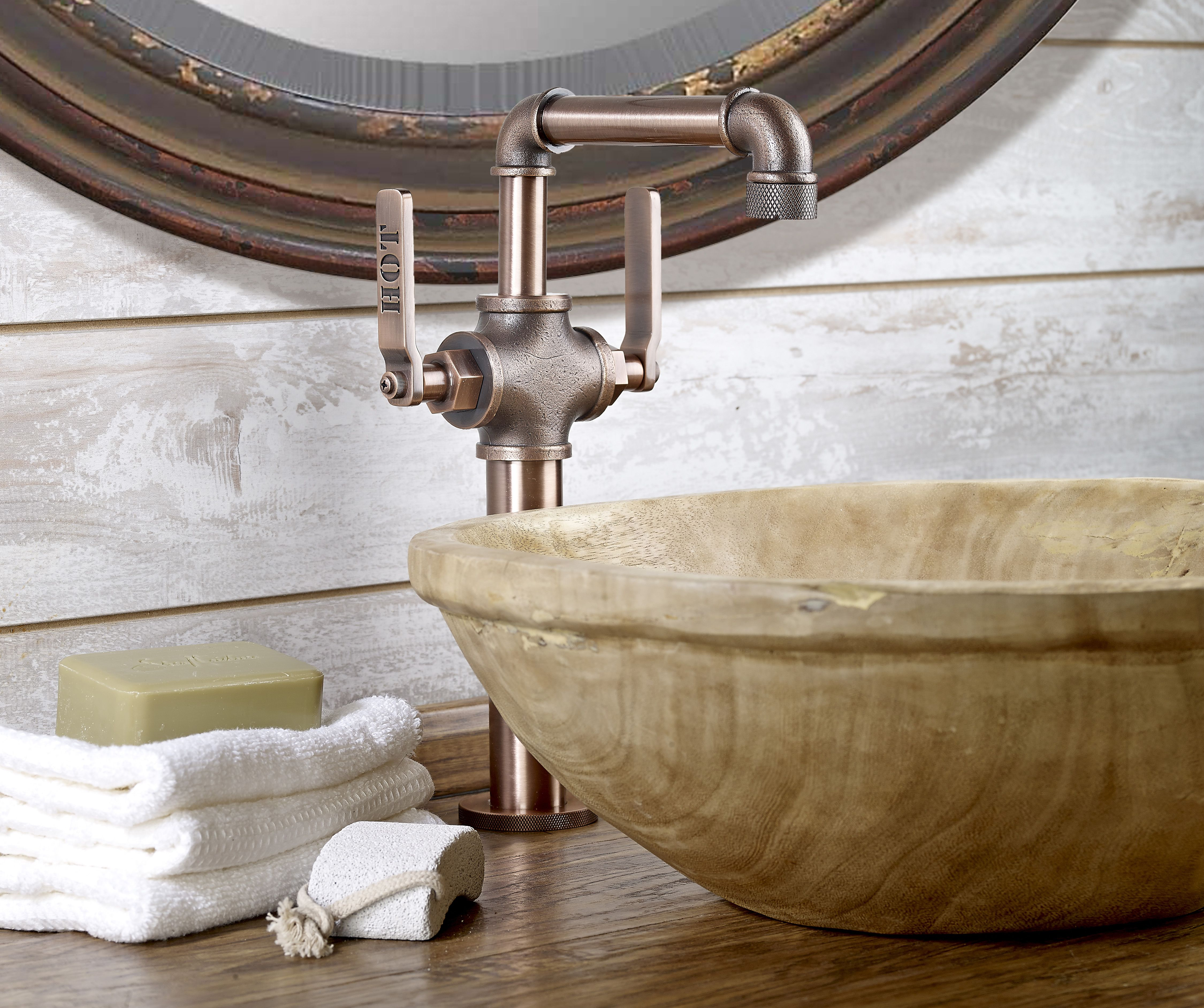Elan Vital Single Hole Deck Mount By Watermark Designs Alexander Marchant Www Al Industrial Bathroom Decor Bathroom Faucets Farmhouse Industrial Faucet