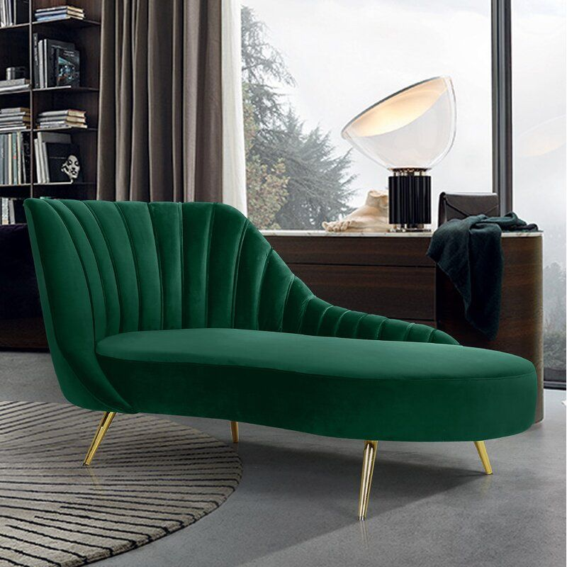 Pin By Armira On Only In My Dreams Green Chaise Lounge Upholstered Chaise Lounge Meridian Furniture