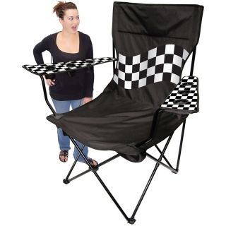 Kingpin Giant Tailgating Chair Checker Flag From Homewetbar Com