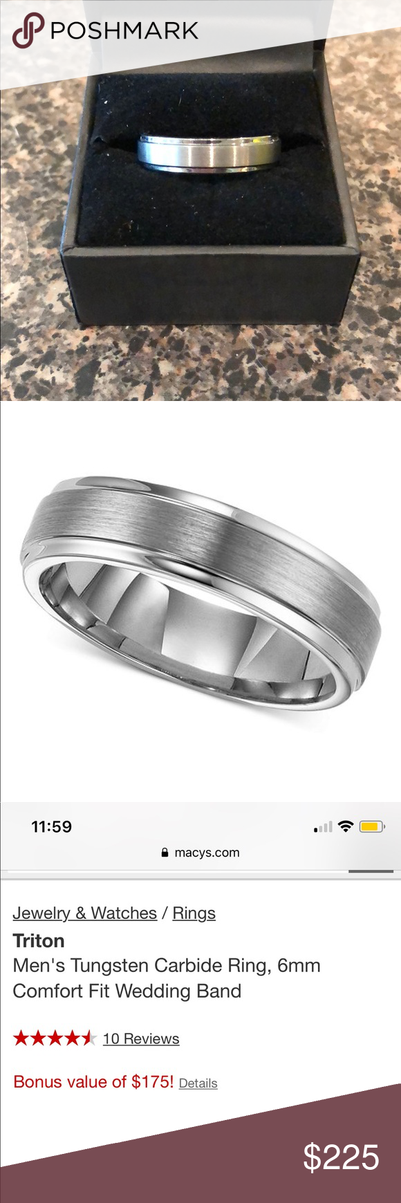 Men S Wedding Ring Comfort Fit Wedding Band Never Been Worn New In Box Too Big Of Size Triton Comfort Fit Wedding Band Big Wedding Rings Men S Wedding Ring