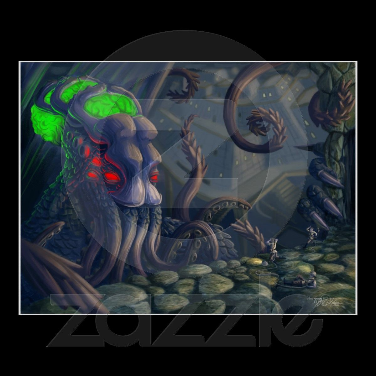 #Lovecraft 's Dreamlands: #Cthulhu 's Uninvited from Zazzle.com as low as $21.55 for a 32X24, comes in many sizes and print qualities.