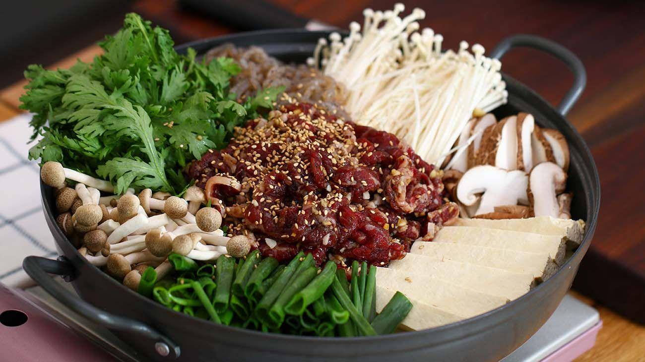 Korean Beef Hot Pot Bulgogi Jeongol Recipe Video Seonkyoung Longest Recipe Bulgogi Korean Beef Hot Pot