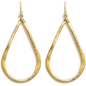Gorjana Gold Teardrop Earrings