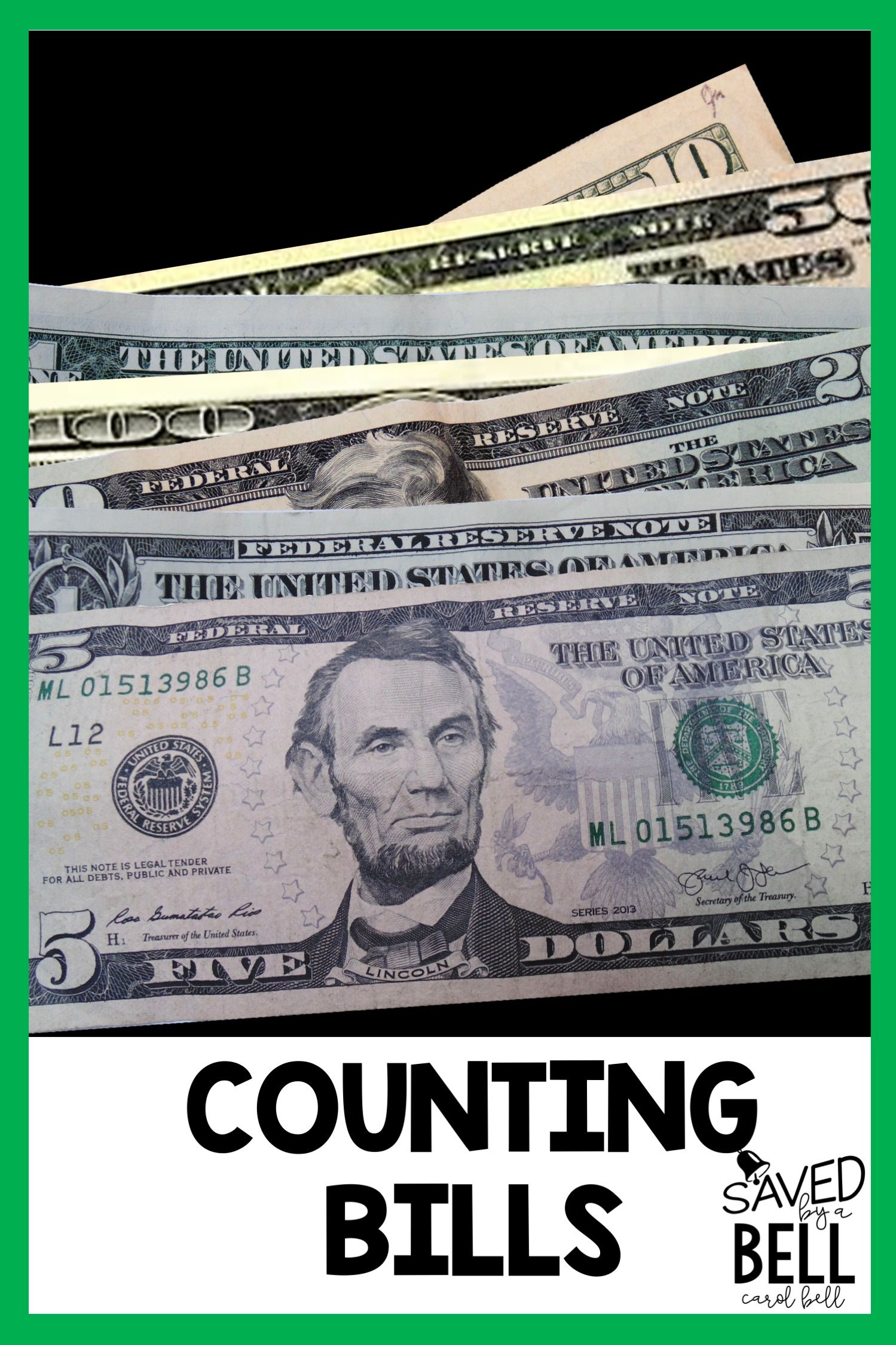 Counting Money Task Cards Counting Bills Distance Learning
