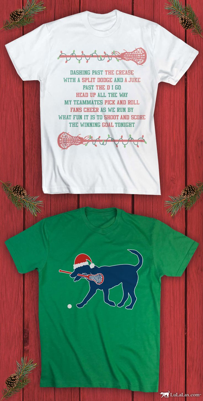 Fun And Festive Christmas Tees For The Whole Lacrosse Team Lacrosse Christmas Hockey Shirts Hockey Mom