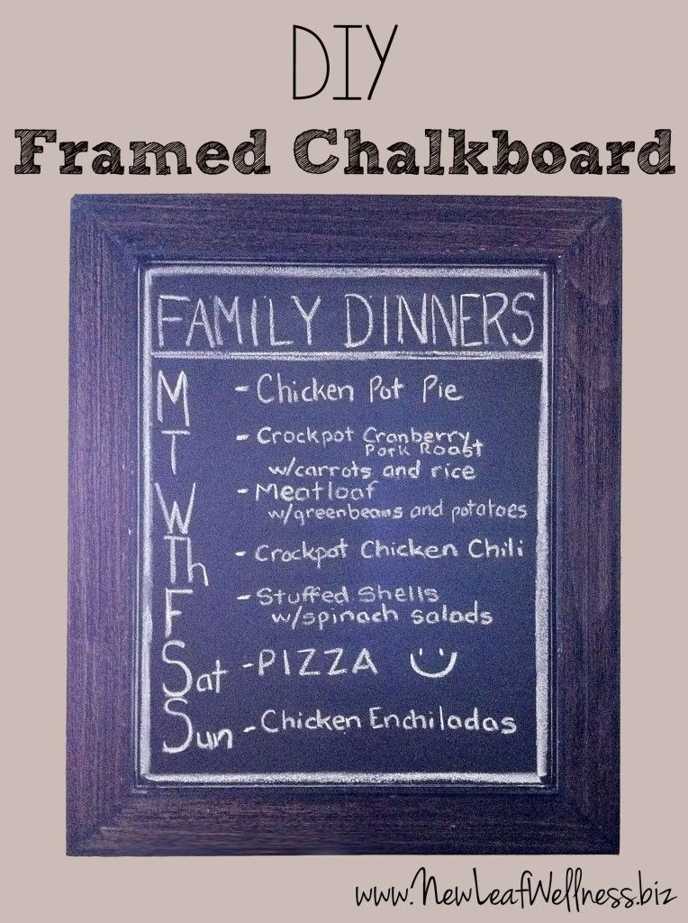 DIY framed chalkboard dinner menu | My Eats | Pinterest | Framed ...