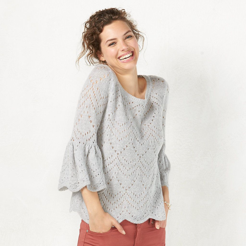 Women's LC Lauren Conrad Eyelet Popover Sweater | Style & Fashion ...