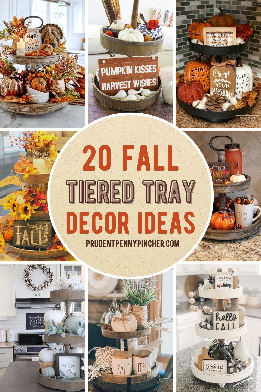 20 Tiered Tray Fall Decor Ideas Fall Tray Fall Thanksgiving Decor Fall Tiered Tray Decor