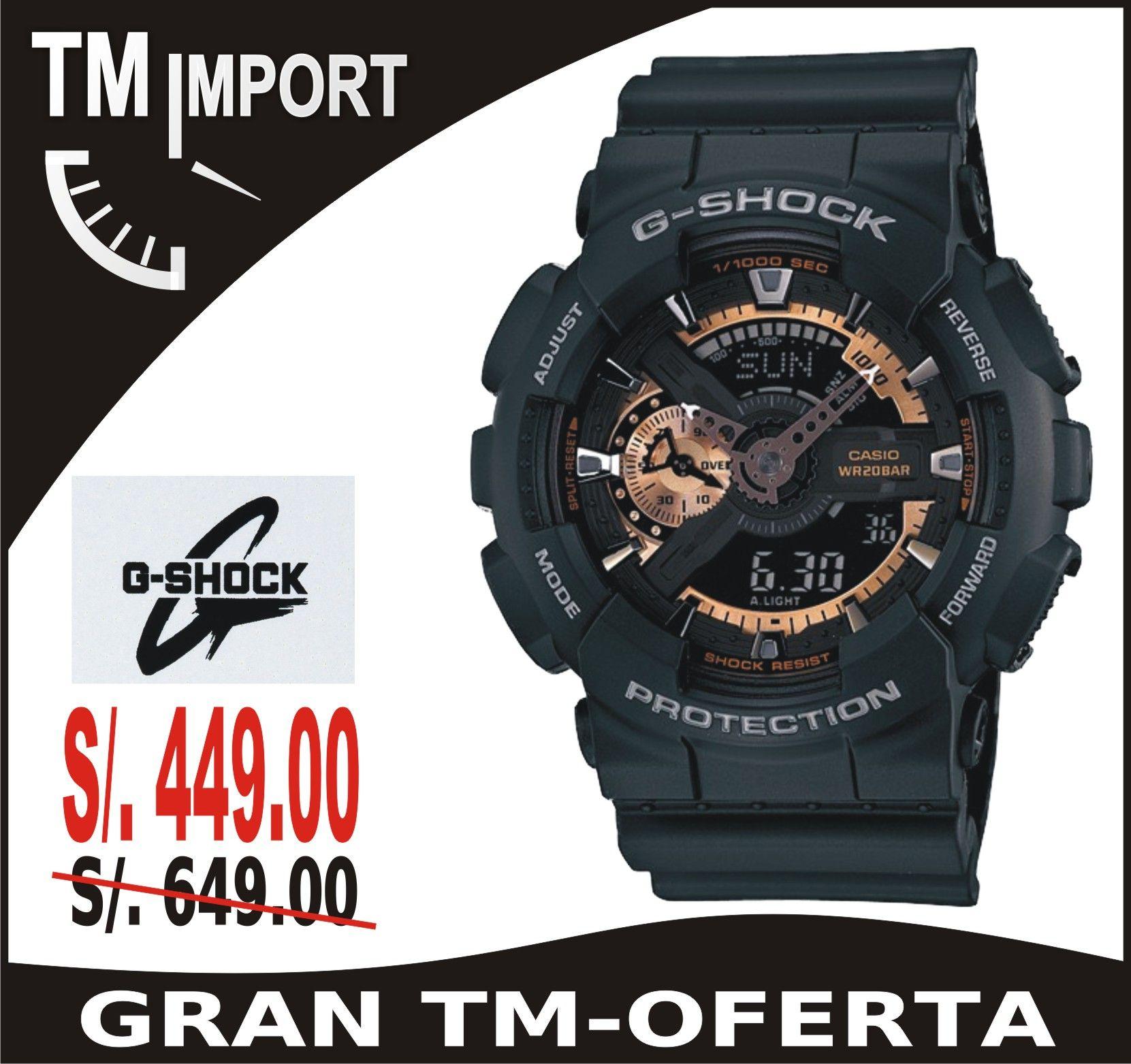 afcf05f6dc30 Reloj Casio G-Shock Modelo GA200RG a solo S . 449