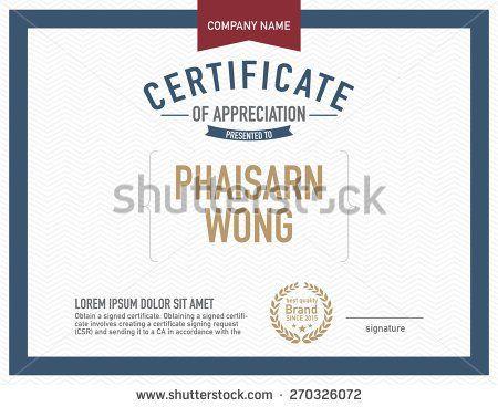 Modern Certificate Template  Art Idea    Certificate