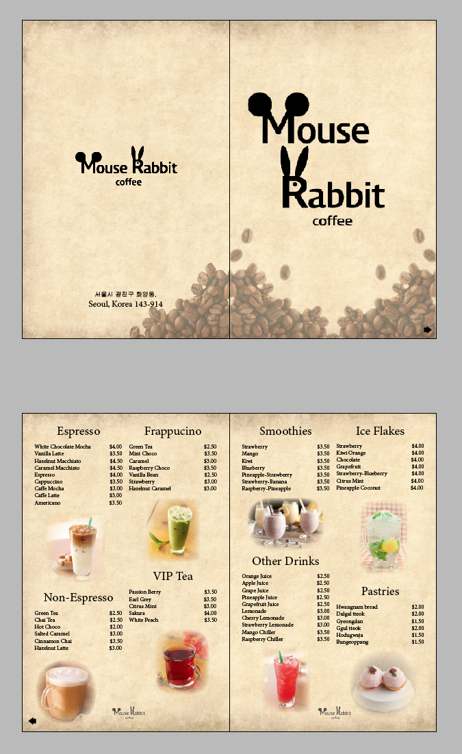For You Kpop Super Junior Yesung Fans You Know What Mouse Rabbit Is 3 In My Indesign Class We Had To Create Re Design A Menu Resep Minuman Minuman Resep