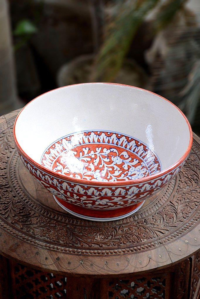 A Perfect Design And A Perfect Look This Beautiful Masterpiece Made From Blue Pottery Will Surely Increase The Beauty Of Yo Blue Pottery Pottery Blue Ceramics
