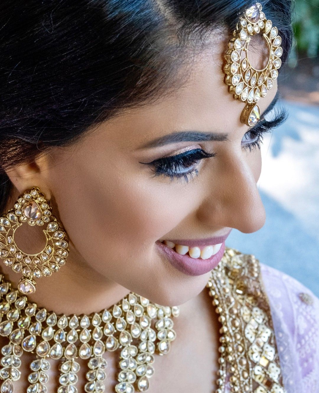 Our Beautiful Client Gurveen On Her Engagement Lashes Madeinlondonstudio Carnab In 2020 Bridal Hair And Makeup Bridal Makeup Artist Artistic Hair