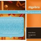 This document is a kinesthetic approach for factoring polynomials. It includes a math mat, anchor chart, printable manipulatives, and a matching card game.