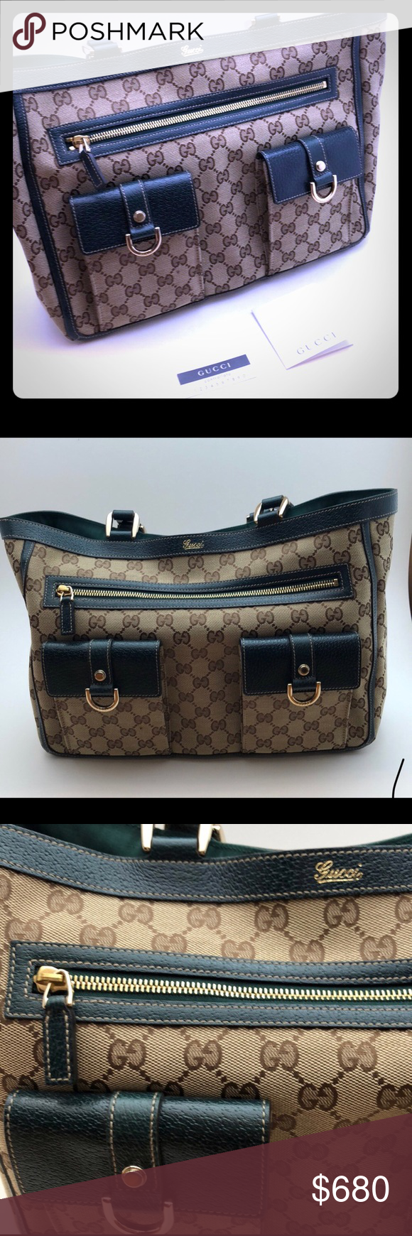 07093fd9678 GUCCI CRYSTAL ABBEY LG POCKET TOTE Neiman Marcus purchased tag  included.Perfect condition