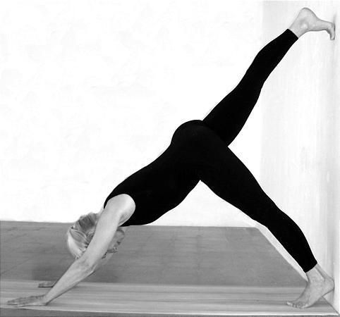 offthewall workout modified yoga poses help with