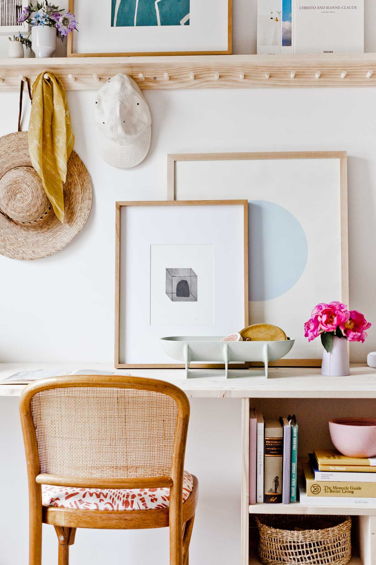 Room Reveal: A Guest Room / Home Office with Renter Friendly Design Solutions images