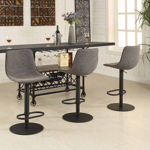Found It At Allmodern Mercury Adjule Height Swivel Bar Stool With Cushion
