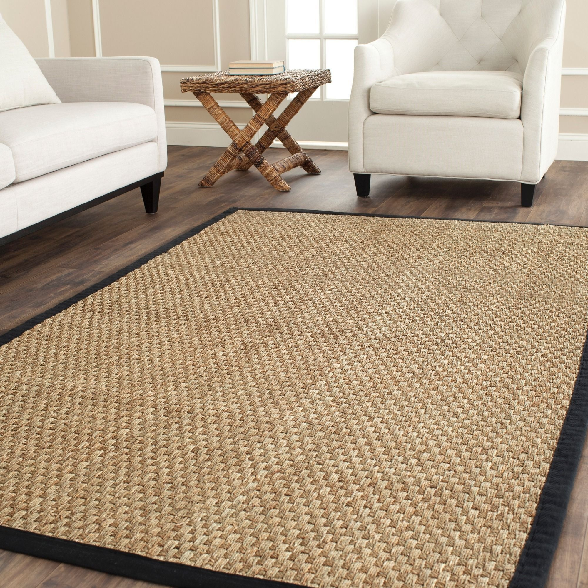 Dress Up Any Space With This Natural Hand Woven Rug Made