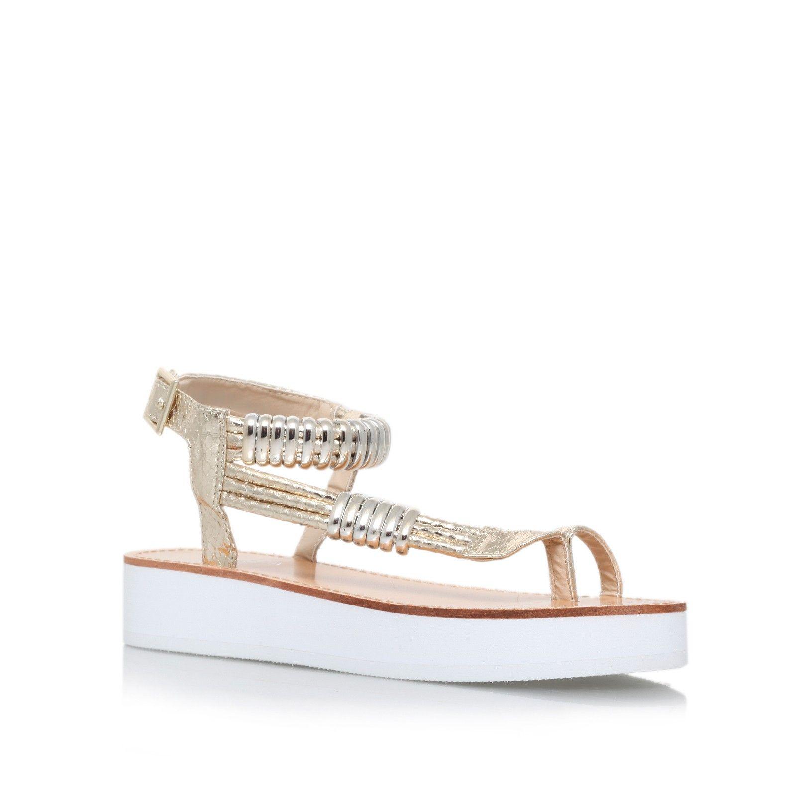 9b11912c48b0 klip gold flat sandals from Carvela Kurt Geiger
