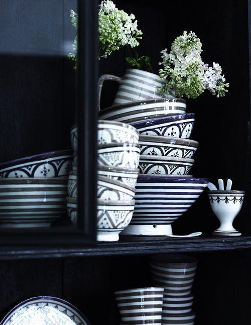 marokkanisches geschirr von tine k home skandinavisch wohnen pinterest geschirr haus und. Black Bedroom Furniture Sets. Home Design Ideas