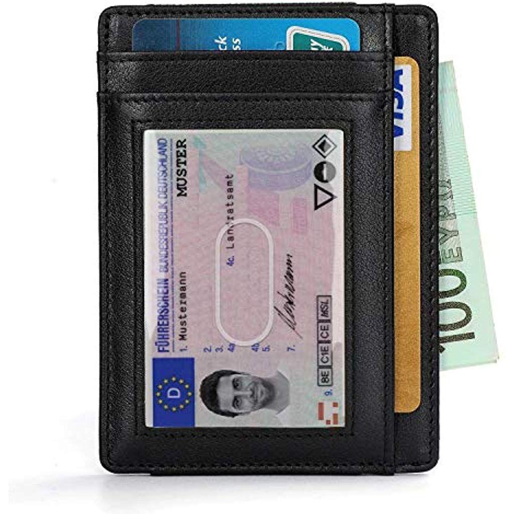 codice promozionale b51f1 c42f8 Vemingo Portafoglio Uomo Vera Pelle Porta carte di credito ...